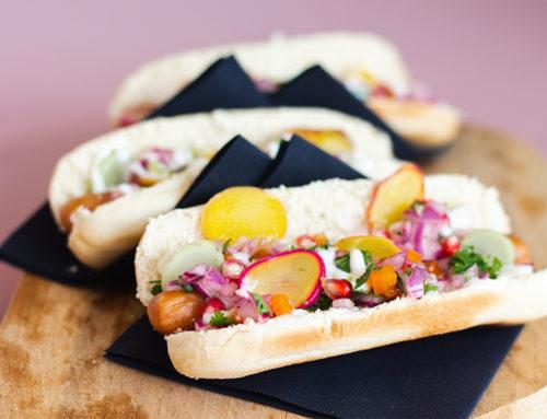 Amarillo-Olluco hotdog